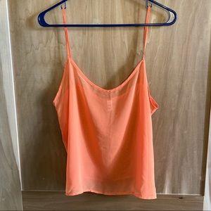 Bright Orange American Apparel Chiffon Cami size M